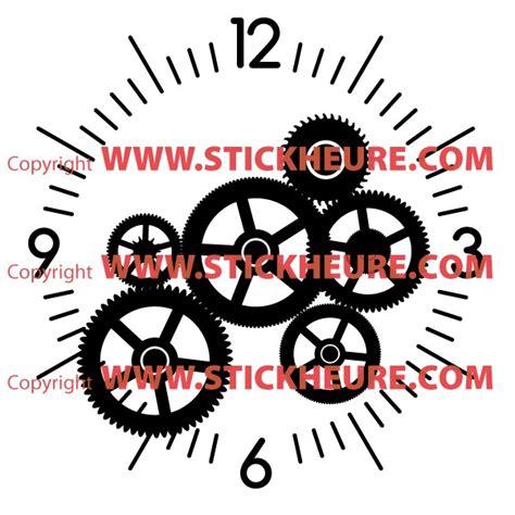 horloge stikers sticker mural horloge g 233 ante mecanisme squelette avec m 233 canisme aiguilles ebay