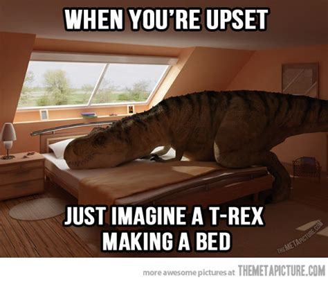trex making bed whenever you feel upset the meta picture