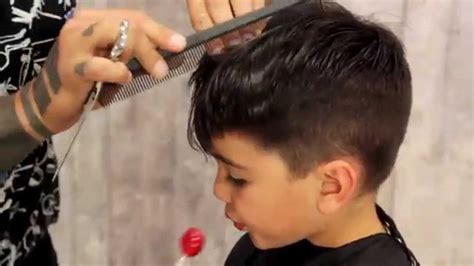 8year boy hair cutting how to give your kid a mod fade haircut tutorial youtube