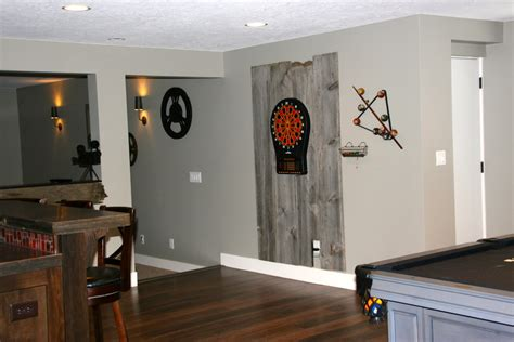 lovely Small Game Room Ideas #3: Bright-dart-board-cabinet-in-Basement-Traditional-with-next-to-Dartboard-alongside-andDart-Board-.jpg