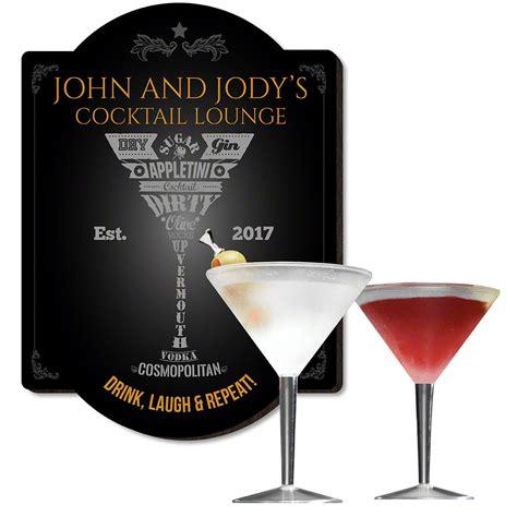 martini bar sign modern martini bar sign and glass set