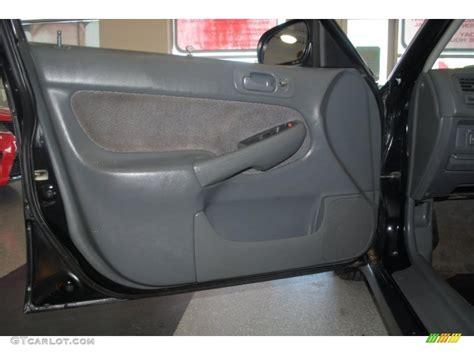 1998 honda civic lx sedan gray door panel photo 39202031