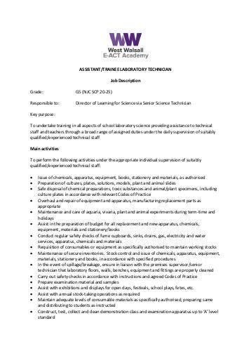 Lab Technician Duties And Responsibilities by Hr Business Partner Keywordsfind