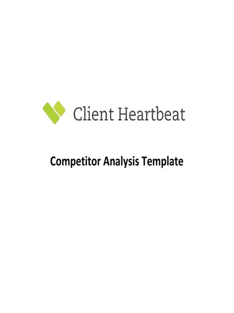 competitor analysis template free competitor analysis template 5 free templates in pdf