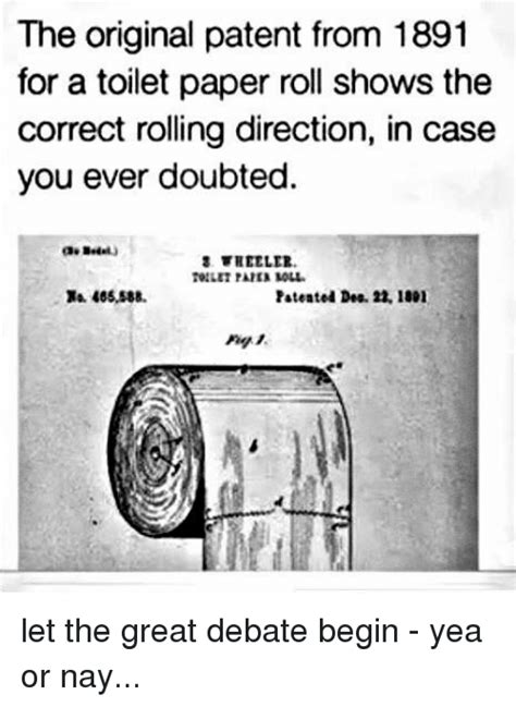 toilet paper patent 9gag 25 best memes about rolling rolling memes