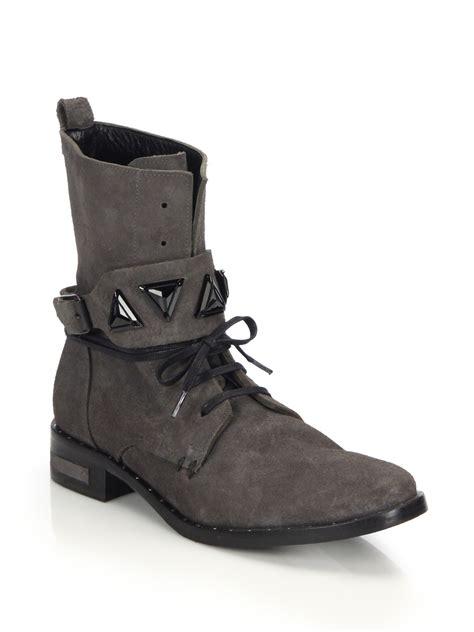 jeweled boots fr苴da salvador trek suede jeweled combat boots in