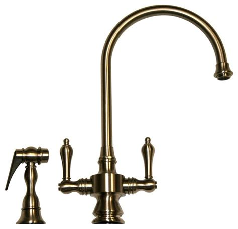 pewter kitchen faucet vintage dual handle faucet pewter pewter farmhouse kitchen faucets by luxury bath collection