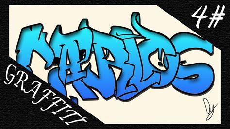 imagenes de te extraño juan carlos speed art 4 carlos text in graffiti by dym youtube