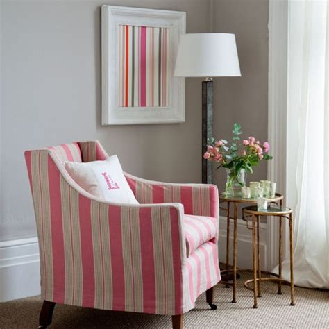 striped living room classic striped armchair living rooms design ideas image housetohome co uk