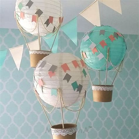 whimsical air balloon decoration diy kit nursery