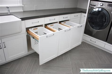 Built In Hers Transitional Laundry Room Sunny Side Up Built In Laundry