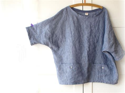 linen blouse plus size top with pockets oversized linen shirt made to order us sizes