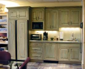Old Kitchen Furniture by Green Stained Pine Cabinets Cabin Ideas Pinterest