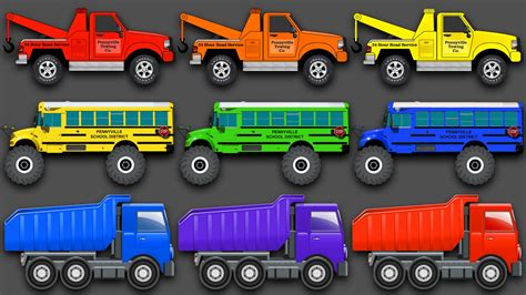 truck colors mixing colors vehicles construction equipment