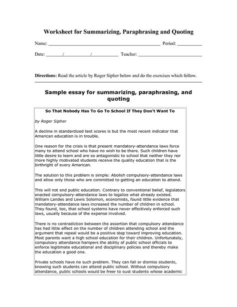 worksheets on summarizing worksheets reviewrevitol free printable worksheets and activities