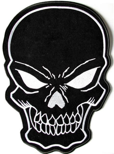 black skull large back patch