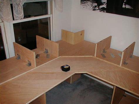 diy multi level desk unsatrbd desk hobby desk