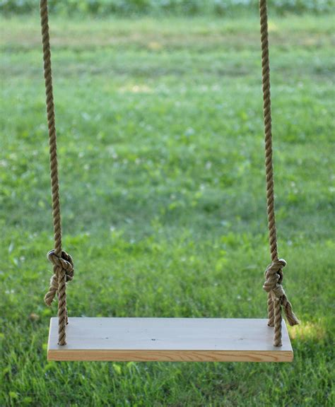 wooden rope swing diy tree swing 187 the merrythought