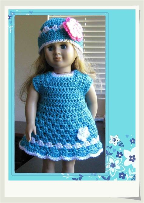 pattern crochet clothes pattern crocheted doll clothes dress for american girl gotz