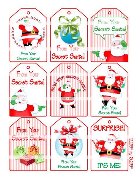 secret santa label template items similar to digital clipart instant secret