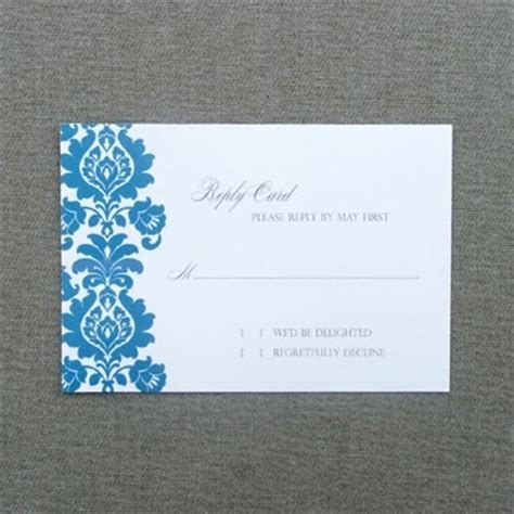rsvp cards for weddings templates rsvp template rococo rsvp card print