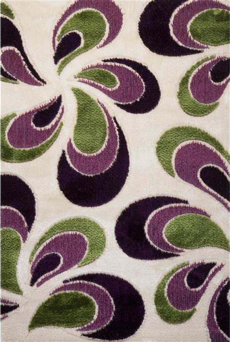 Green And Purple Floral Signature Turkish Area Rug 6 X 8 Purple And Green Area Rugs