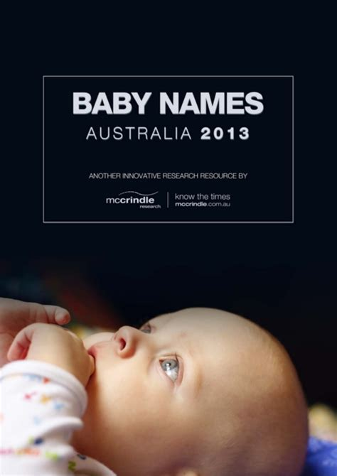Search Name Australia Baby Names Australia 2013 Mccrindle Research