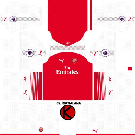 arsenal dls kit arsenal kits 2017 2018 dream league soccer 2017