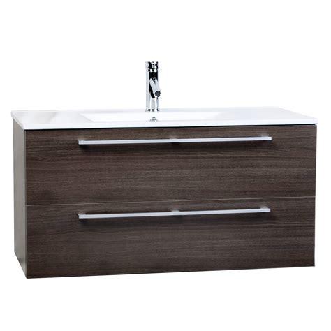 wall mount vanity cabinet buy caen 40 inch wall mount modern bathroom vanity set