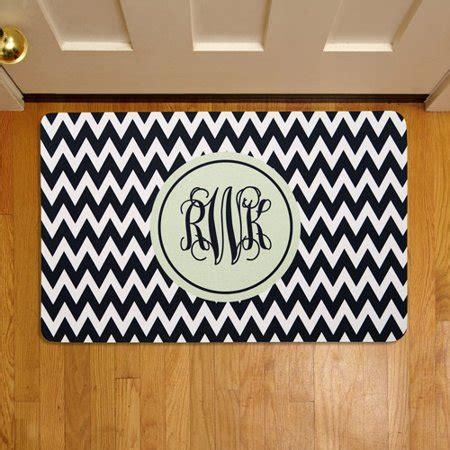 Doormats With Initials by Personalized Chevron Monogram 17 Quot X 27 Quot Doormat Walmart