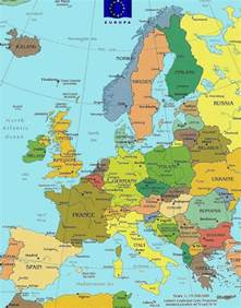 Europe Country Map by Map Of Europe Countries Only