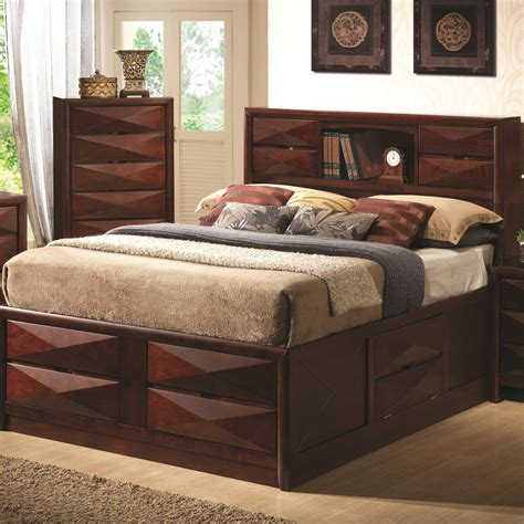 california king bed with storage coaster furniture 202711kw bree california king