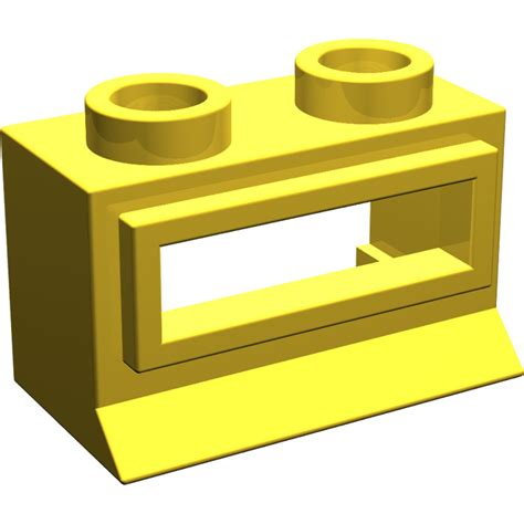 Lego Part Yellow Window 1 X 2 X 3 Pane With Thick Corner Tabs lego yellow window 1 x 2 x 1 classic with sill 27 brick owl lego marketplace