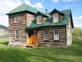 Two Story Log Homes 1907 Historic Log Cabin Historic 2 Story Hand Hewn Log