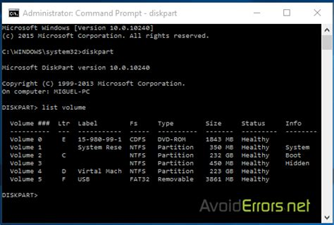format hard disk ms dos how to format a hard drive using command prompt avoiderrors