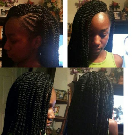 braided mohawk with senegalese twist side mohawk crochet braids with small size senegalese