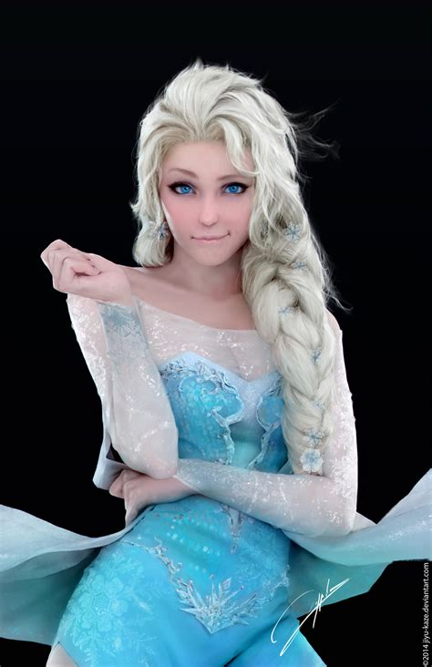 elsa painting insanely realistic digital of elsa in frozen geektyrant