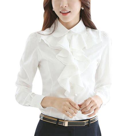 Kirana Frill Top Blouse 1 s white ruffle blouse clothing