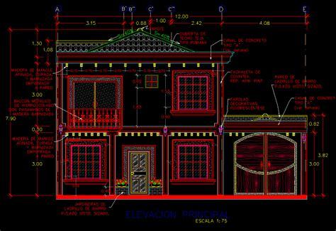 autocad tutorial house design elevation house elevation plan 2d autocad 2d maps