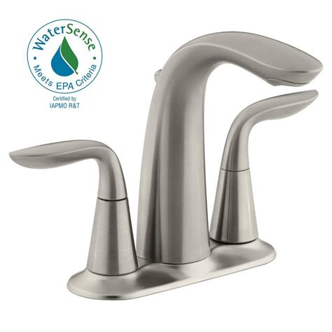 Kohler Bathroom Shower Faucets Kohler Refinia 4 In Centerset 2 Handle Water Saving Bathroom Faucet In Brushed Nickel K 5316 4