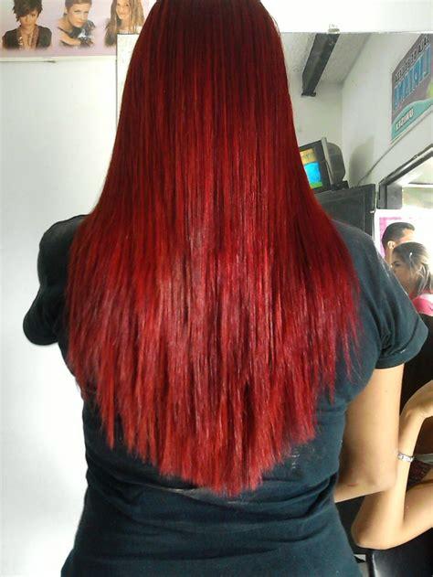 imagenes de tintes rojos fuertes cabello tinturado con salerm vision 8 6 rubio claro rojizo