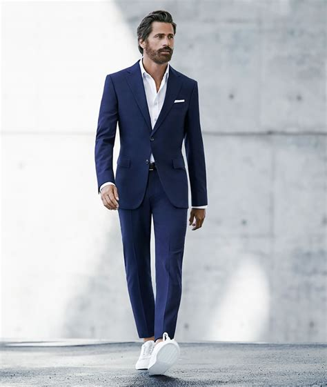 and trainer the new commandments of wearing suits with trainers