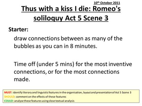 themes for romeo and juliet act 5 romeo and juliet act 5 scene 3 by he4therlouise teaching