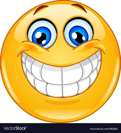 Big smile emoticon Royalty Free Vector Image - VectorStock Emoticons Smile