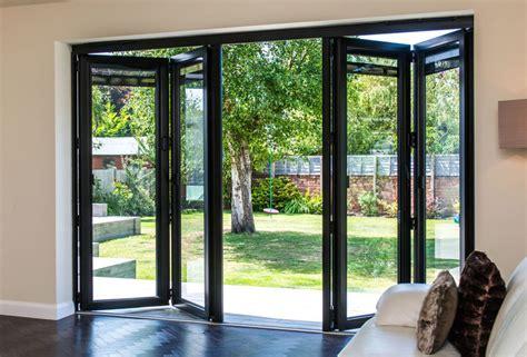 3990x2090 Grey Aluminium Bi fold Door   Folding Doors 2 U