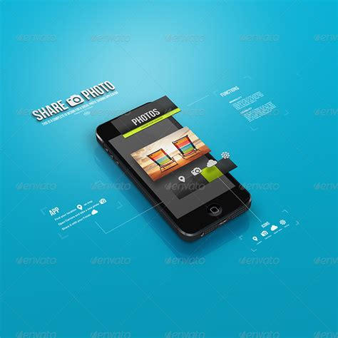 interface design mockup 3d ui screen phone mockup by izzymedia graphicriver