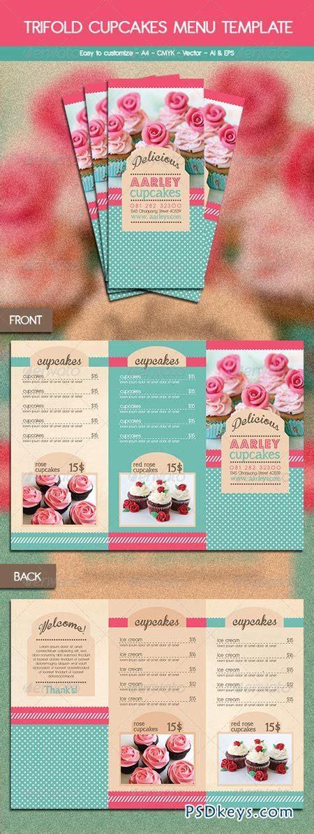 cupcake menu card template trifold cupcakes menu template 6116176 187 free