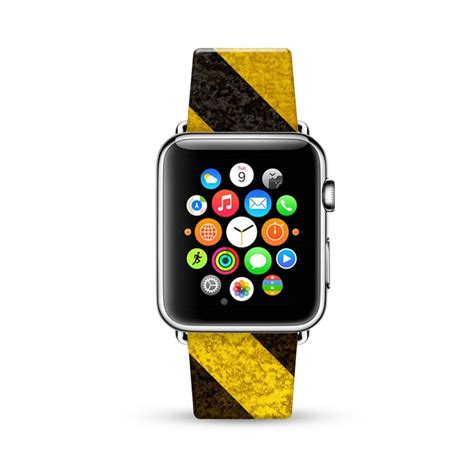 Apple Sport Band Only Yellow 42 Mm yellow hazard stripes apple band 38 42 mm