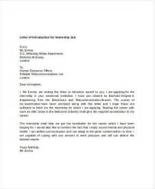 Letter Of Introduction Template For Employment Letter Of Introduction For Job 7 Free Word Pdf