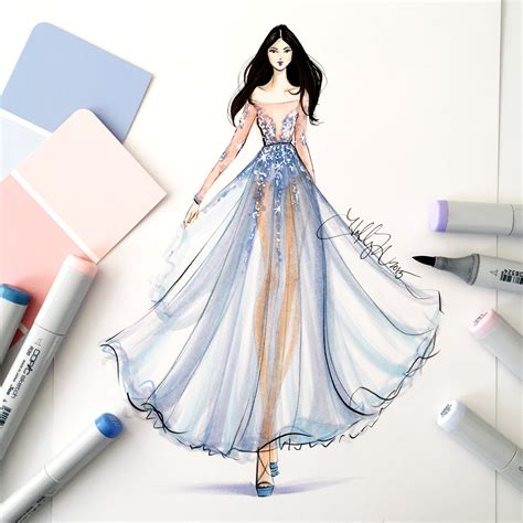 tutorial illustrator fashion design copic marker tutorial using pantone s color of the year